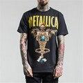Rock T-shirt Heavy Metal Metallica Men's T Shirt 2017 Short Sleeve O Neck Magic Lamp devil Printed Cotton Top Tee for Men