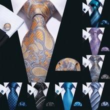 2019 Barry.Wang 20 Colors Paisley 100% Silk Ties For Men Gifts Wedding Necktie Gravata Handkerchief Set Business Groom S-20P