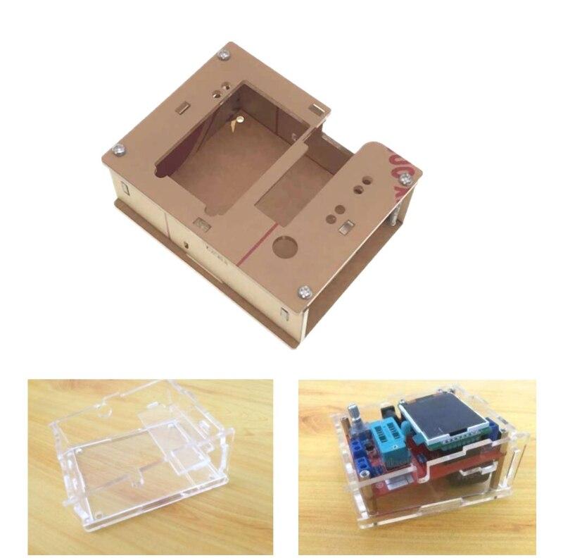 Caso acrílico escudo fr gm328 transistor tester tft diodo lcr esr medidor pwm quadrado