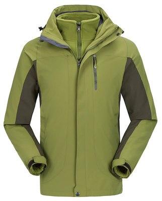 Prix pour Livraison gratuite étanche épaississent jakcet 2017 nouveau voyage de ski survêtement manteau sport Randonnée double couche 3 en 1 veste d'hiver hommes