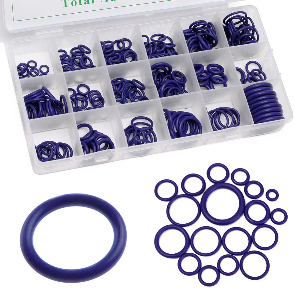 SAILFLO New 265Pcs Car A/C R134a System Air Conditioning O Ring Seals Washer Assorted