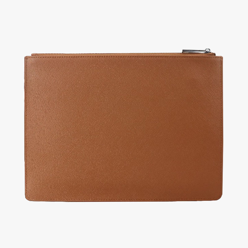 Limited Edition customed initial letters genuine saffiano cow leather pouch ladies clutch bag winners limited edition