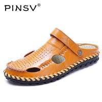 Summer Shoes Men Sandals Genuine Fashion Male Sandalias Beach Shoes Soft Bottom Breathable Men Sandalias Hombre
