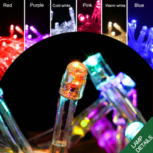 100 Leds 10M Holiday String light Christmas Wedding Party Festival Twinkle Decoration lamp Bulb 220V EU Plug LED Indoor Ribbon