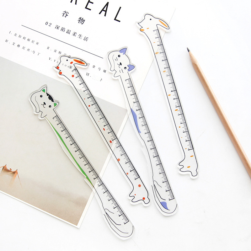 Cartoon Cat Ruler Cute 15cm Rabbit Measuring Straight Rulers Drawing Tool Promotional Stationery Gift School Supplies