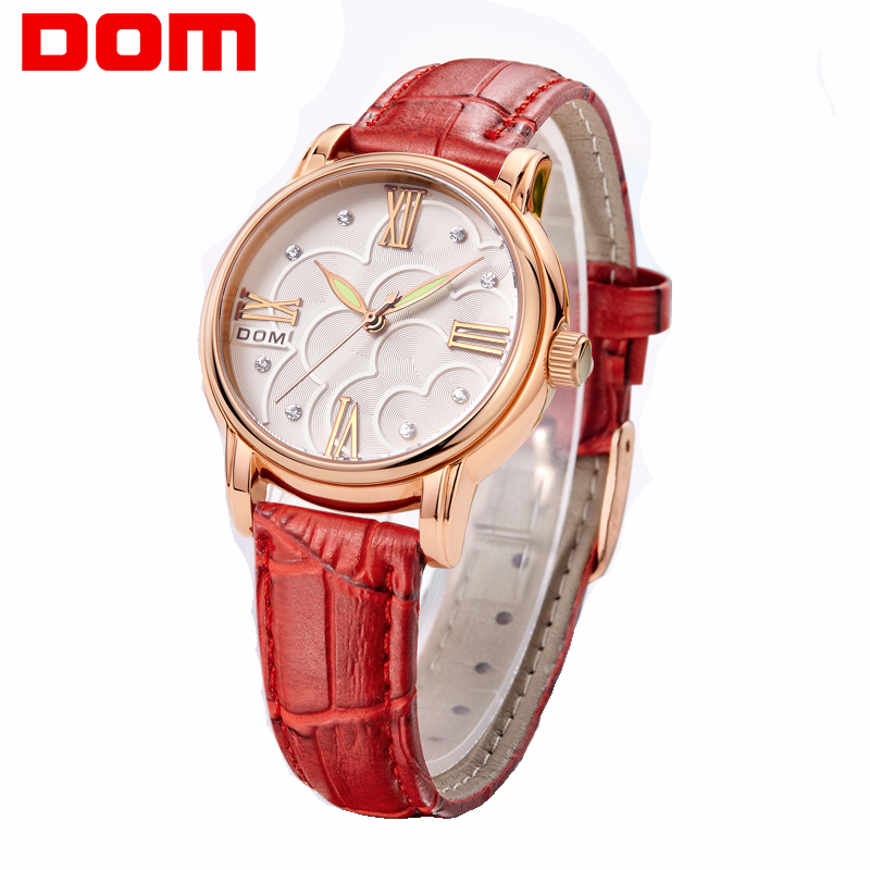 Watch Women DOM Brand Elegant Retro Watches Fashion Ladies Quartz Watches Clock Women Casual Leather Women's Wristwatches G-1028