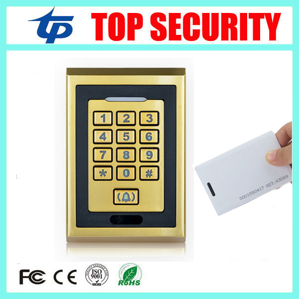 Free shipping IP65 full waterproof dust proof 8000 users 125KHZ EM RFID card and password access control door security system metal rfid em card reader ip68 waterproof metal standalone door lock access control system with keypad 2000 card users capacity