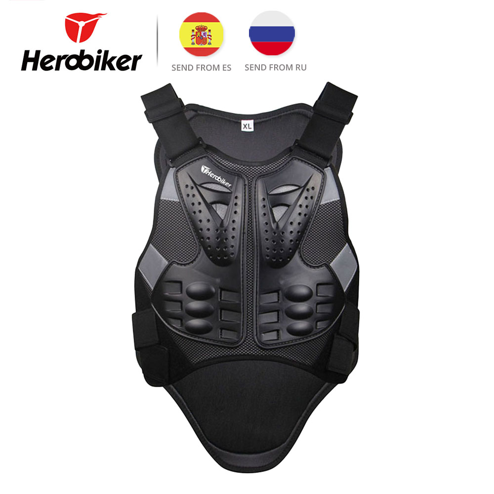 HEROBIKER Motorcycle Armor Chest Back Body Armor Vest Motocross Protective Gears Vest Motorcycle Jacket Moto Waistcoat L XL herobiker motorcycle armor chest back body armor vest motocross protective gears vest motorcycle jacket moto waistcoat l xl