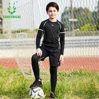 Vansydical детские спортивные костюмы для бега 3 шт. костюмы для спортзала одежда для тренировок спортивная одежда баскетбольная Джерси трениро...