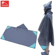 Multifunctional Raincoat Backpack Rain Cover Hiking Cycling Poncho Waterproof Tent Outdoor Camping Shade Picnic Mat Pad