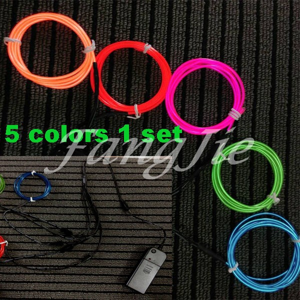 online get cheap el wire colors aliexpress com alibaba group 5x1m 5colors 1 set 5m 15ft 10 colors tron neon glowing electroluminescent wire el wire