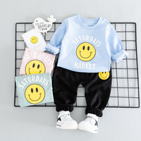 Baby Boys Girls Clothing Sets New Spring Smile Hooded Sport Suit Kids Boys New Year Clothes infant Clothing Set Kids tracksuit