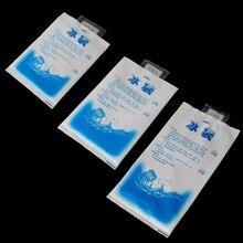 ФОТО thinkthendo 10pcs reusable plastic cooler bag for food storage ice gel packs cubes