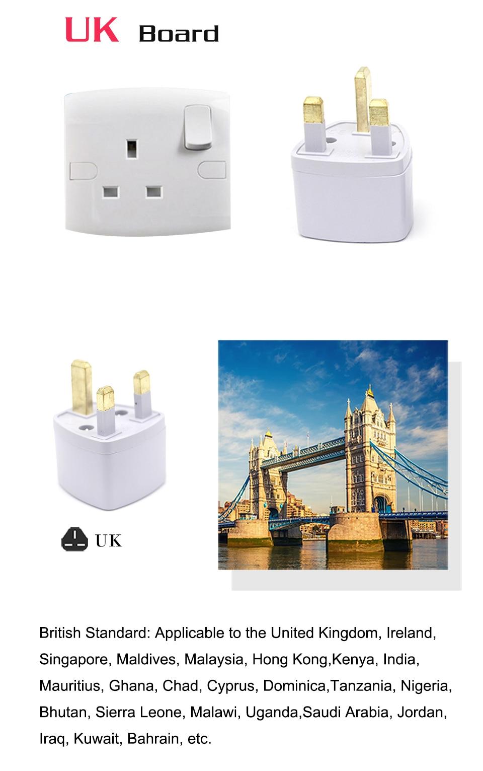1PC Universal UK US AU EU AC Power Socket Plug Travel Electrical Charger Adapter Converter Japan China America Italy Switzerland (4)
