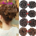 Hot Synthetic Hair Chignon Buns Hairpiece Natural Wavy Hair Pieces Fast Donut Bun Extensions Chignon Hair Buns Free Ship 1pcs