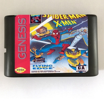 Top quality 16 bit Sega MD game Cartridge for Megadrive Genesis system — Spider-man & X-men
