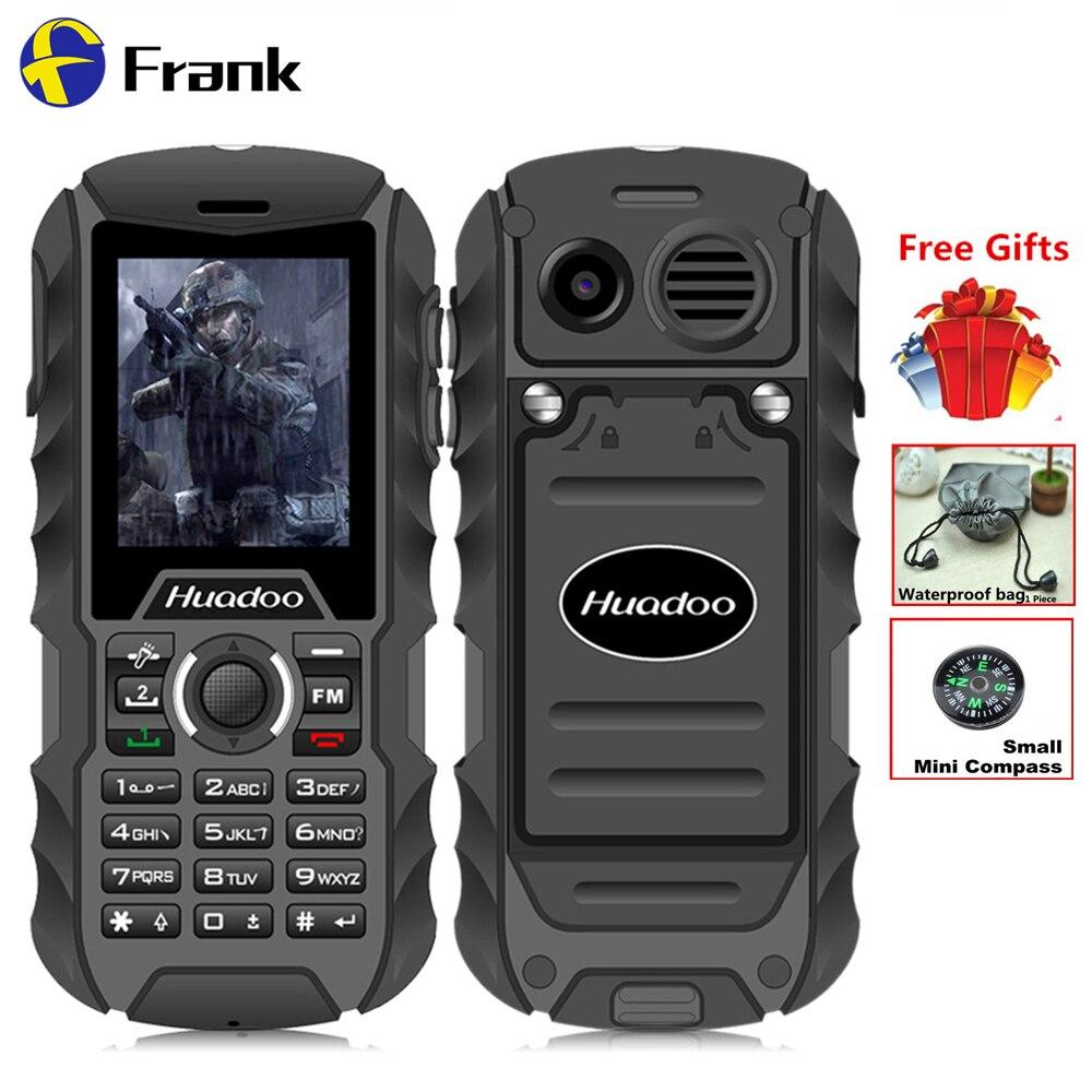 Big Gifts Original Huadoo H1 IP68 Waterproof Shockproof Dustproof Outdoor Senior Old Man 2SIM phone 2000mAH