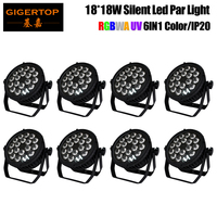 High Quality 8XLOT TIPTOP Ultra bright 220W LED Spot DJ Par Cans 18x18W Disco DJ Pub Club Bar Stage Gobo For Sale 110V 240V