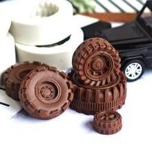 Tire shape silicone mold DIY fondant cake mold chocolate fudge dry Pez mold