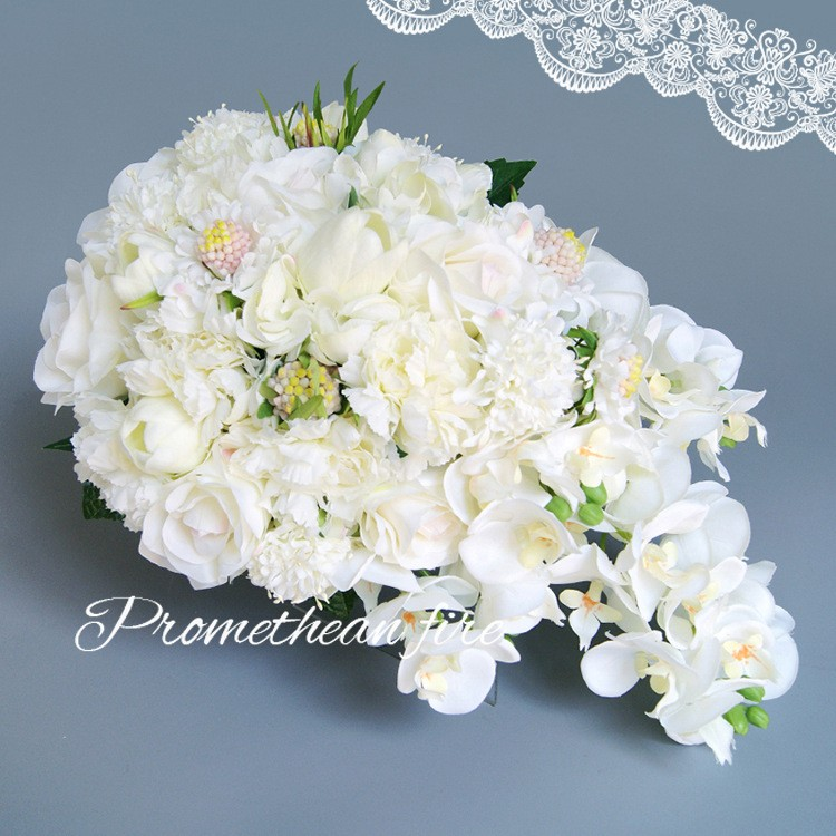 Bridesmaid flower wedding accessories bridal bouquets artificial bruidsboeket fleurs bouquet mariage 12