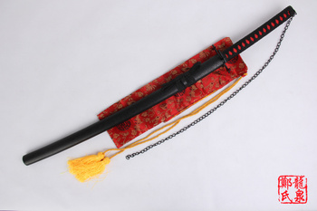 Free Shipping Bleach Anime Sword Ichigo Carbon Steel Katana Replica Tensa Zangetsu Cosplay Props Decorative Supply 2