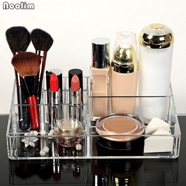 NOOLIM Acrylic Cosmetic Organizer Clear Makeup Jewelry Cosmetic
