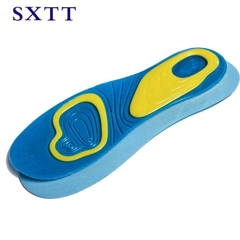 SXTT Silicone gel insoles comfortable shoe insoles shock sole men insoles shoes pad inserts insert women massage insoles