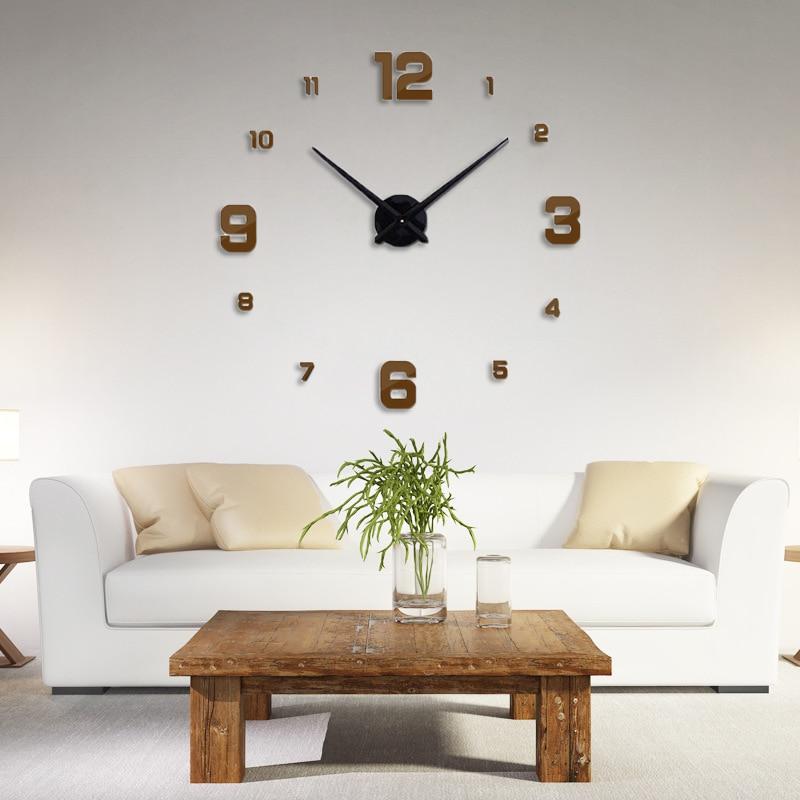 Freeshipping 2019 Νέα διακόσμηση σπιτιού μεγάλο ρολόι τοίχου καθρέφτη σύγχρονο σχέδιο 3D DIY μεγάλα διακοσμητικά ρολόγια τοίχου ρολόι μοναδικό δώρο