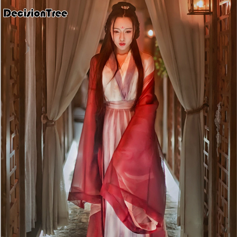 2019 Purple Women's Ancient Tang Dynasty Empress Dress Traditional Hanfu Cosplay Clothing Women Chinese Ancient Costume