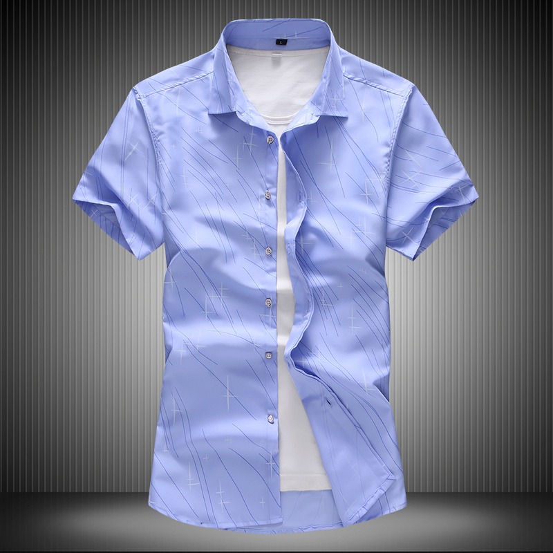 2019 Summer New Cool Breathable Short Sleeve Summer Shirts Men Casual Cotton Button Down White Shirts Plus Size 4XL 5XL 6XL 7XL
