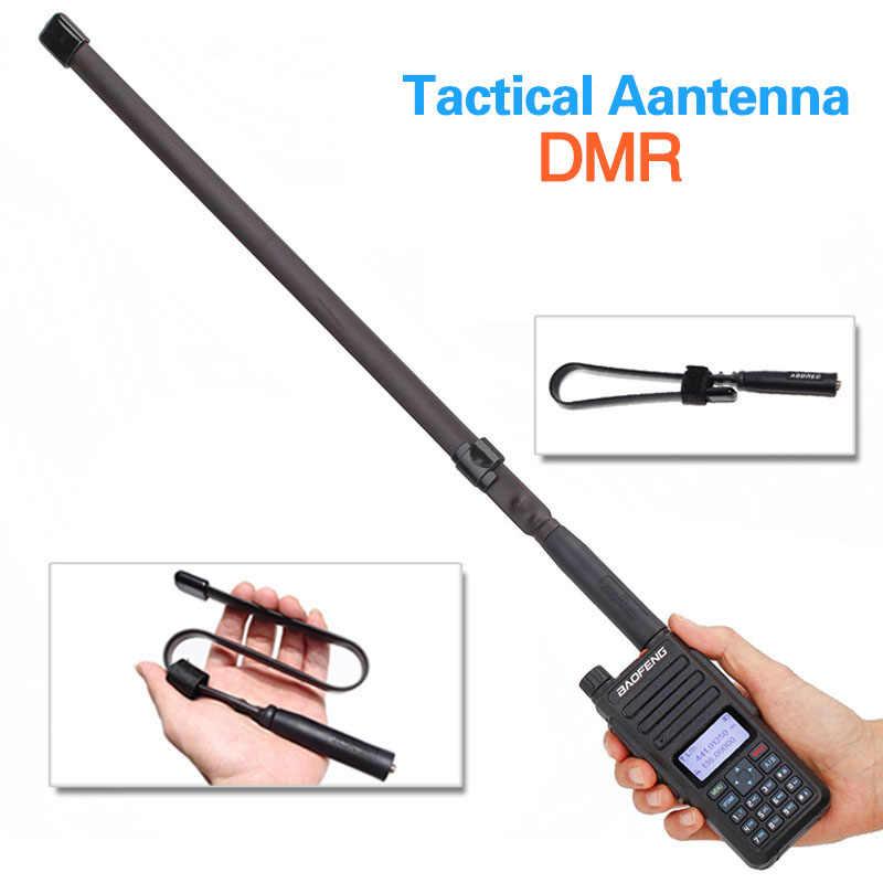 ABBREE SMA-Female144/430 MHz V/U Dual Band Falten Taktische Antenne für Baofeng Digitale DMR DM-860 DM-1701 DM-X ham Walkie Talkie