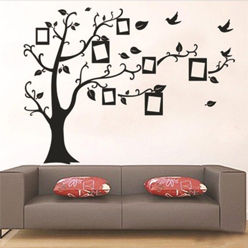 diy fotorahmen baum wandaufkleber wohnkultur design wohnzimmer sofa vintage die erinnerungen kreative wandtattoos zooyoo aufkleb - Designwohnzimmer