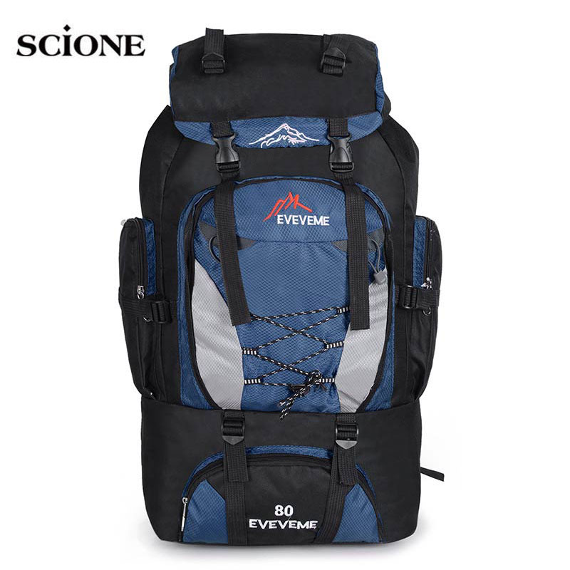 Backpacks 80L Camping Hiking Backpack Bag Outdoor Sports Bags Travel Waterproof Men Climbing Rucksack Trekking Mochila XA535-1WA outdoor backpack 80l camping bag travel sports bags waterproof package men rucksack climbing bags hiking backpack
