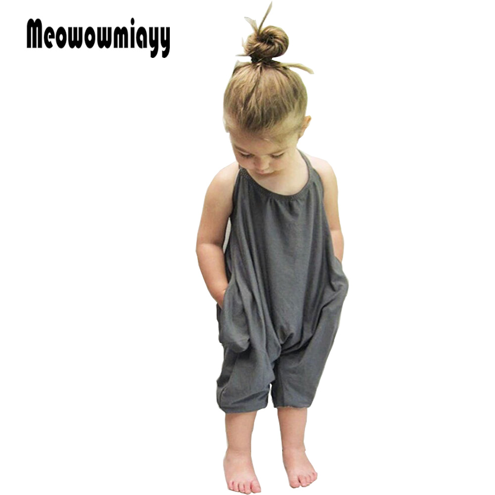 Girls clothes kids clothes 2018 kids clothes girls gray cotton sling sleeveless bodysuits summer toddler girl clothing 2017 cotton toddler kids girls clothes sleeveless floral romper baby girl rompers playsuit one pieces outfit kids tracksuit