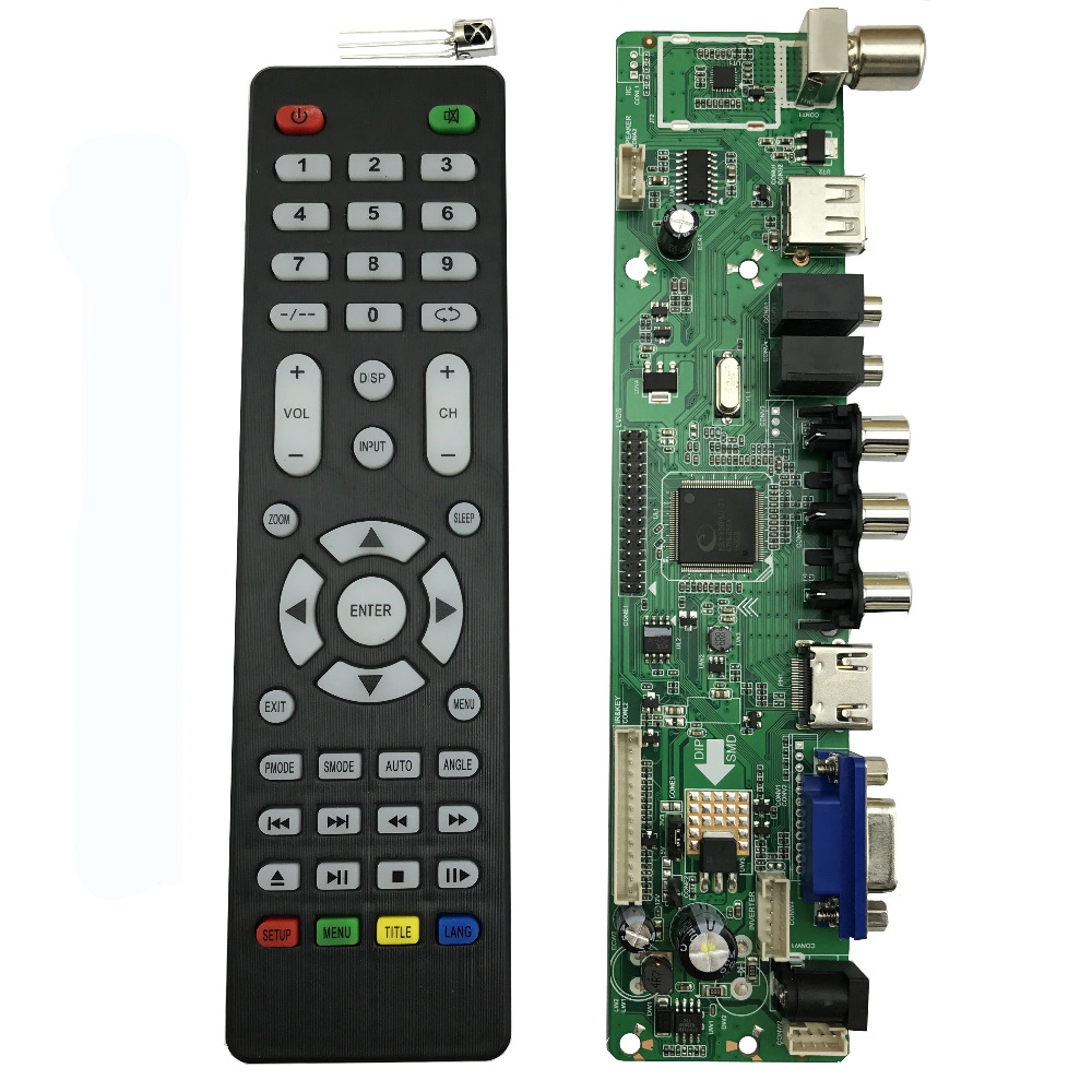 free shipping V56 Universal LCD TV Controller Driver Board PC/VGA/HDMI/USB Interface