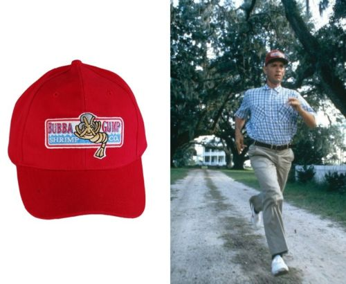 Forrest Gump Bubba Gump Shrimp Co Hat Tom Hanks party costume Cosplay Red  Cap 6d873eeca1a6