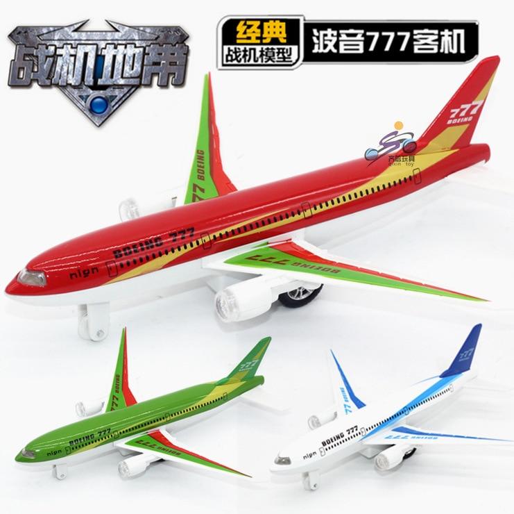 Barnleksaker, Alloymodellplan, Boeing 777 airbus, Dra tillbaka plan, - Bilar och fordon - Foto 3