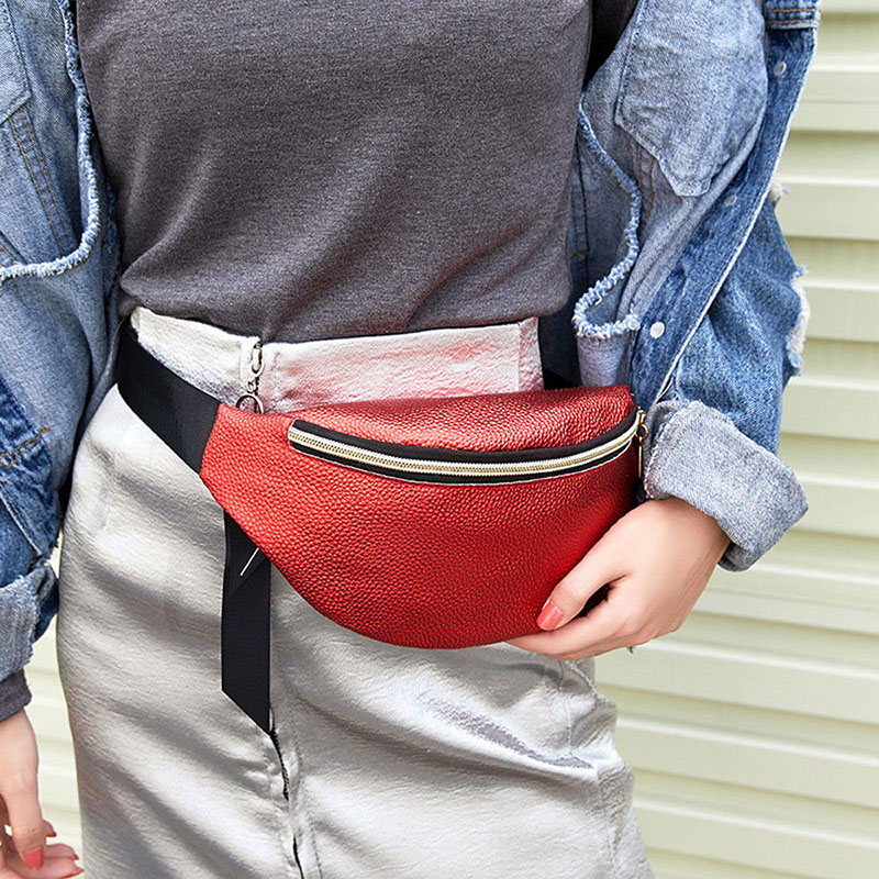 2019 New Women Waist Fanny Pack Belt Bag Travel Hip Bum Bag Small Purse Chest Pouch OH66