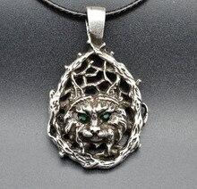 1pc 3 9cm Antique Silver Viking Lynx Head font b Pendant b font font b Necklace