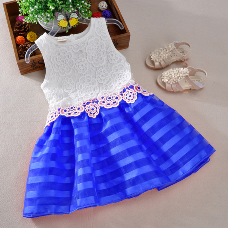 New Cute Fashion Girls dress kids baby girl clothes vestidos lace wedding Girl princess dress girl children party dresses 2-6Y summer new baby girl clothes sleeveless birthday party wedding girls dress princess bow lace children clothing dresses for kids