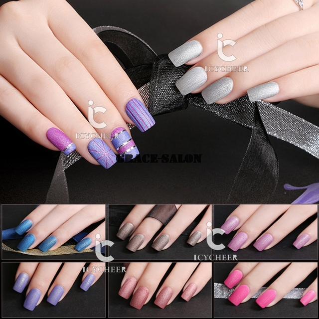 ICYCHEER Nail Art Matt Color Gel Polish Soak off Vanish Decoration ...