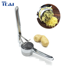 New Large Sturdy Stainless Steel Potato Masher Ricer Puree Vegetable Fruit Press Maker Kitchen Gadgets Press Cook Tools