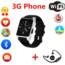 smart Watch X86 Android4.4 MTK6572 512MB+4GB Wearable Device support 3G Sim Card  Playstore Smartwatch men PK QW09 S8 KW88 Dm09