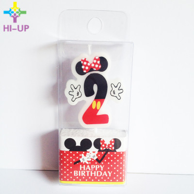 1pc Minnie Mouse Candle 1 2 3 4 Anniversary Cake Numbers Age Birthday Baby Shower Party Supplies