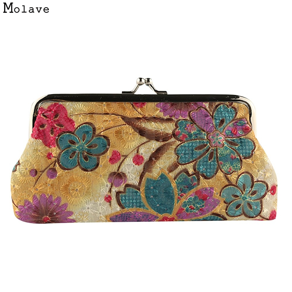 Naivety drop shipping Coin Purse New Lady Vintage Flower Small Wallet Hasp Women Retro Clutch Bag Good For Gift JUL28