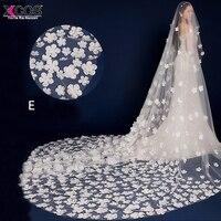 Bride veils white applique tulle 3 meters veu de noiva long wedding veils bridal accessories lace.jpg 200x200