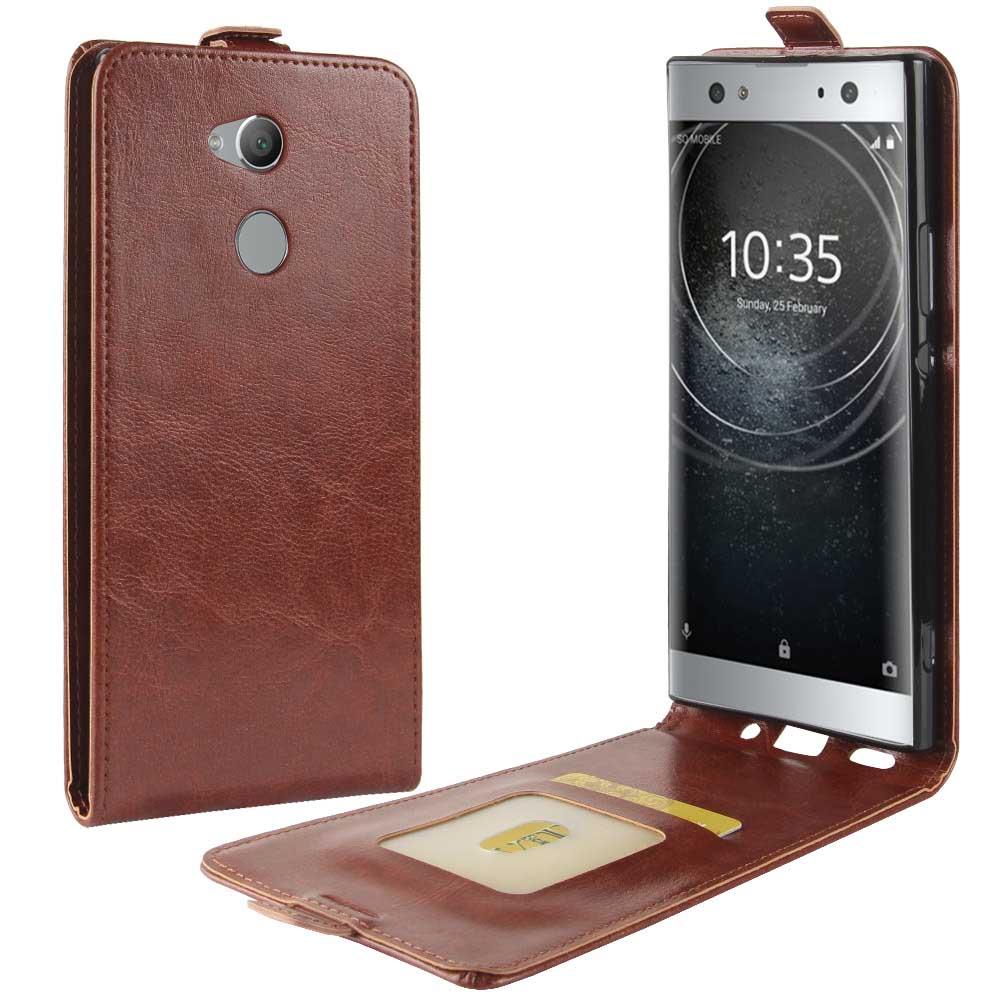 "KSQ New Mobile phone Case for Sony Xperia XA2 Ultra H4233 (6.0"") PU Leather Vertical Flip Phone Accessories Card backCover"