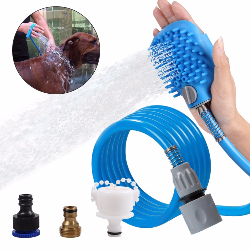 Pet Bathing Tool Pet Shower Sprayer For Dog With Massage Combo Glove ...