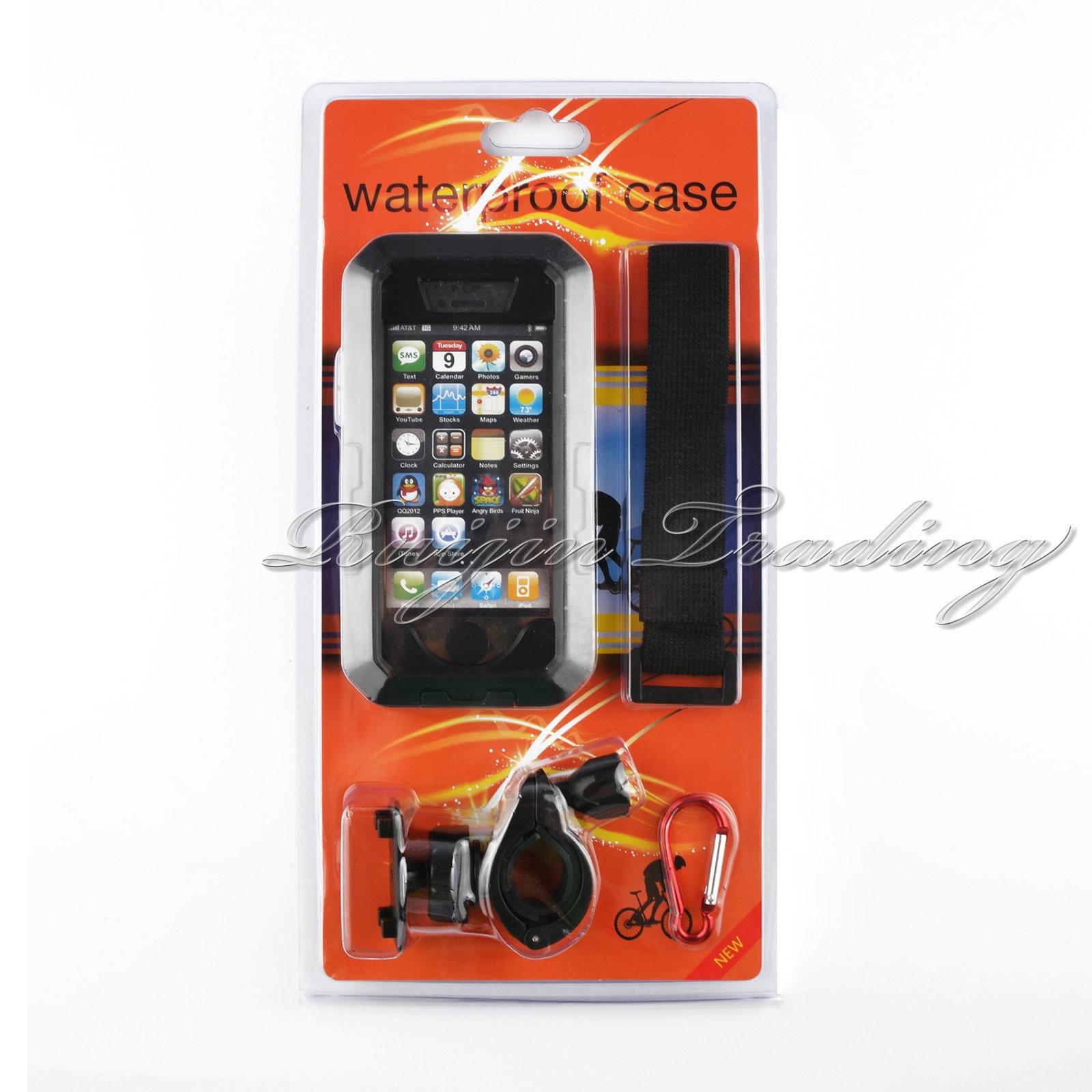 imágenes para IPX8 Multifunción Impermeable Cajas Del Teléfono Para el iphone de Apple 5 SÍ Superior Bici de La Motocicleta Deportes Manillar de Montaje Para el iphone 5/5S