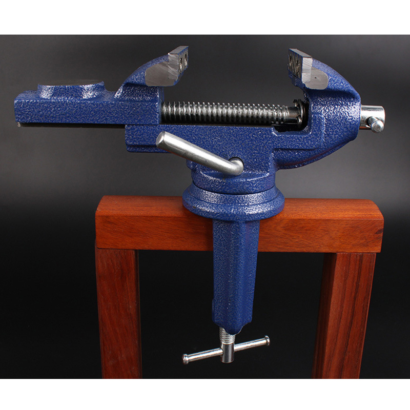 Universal Table Vise Metal Clamp-On 360 Degree Swivel Handle Carpentry Tools for Home --M25 plaid pattern universal 360 degree rotational zipper bag for 9 10 11 laptop white